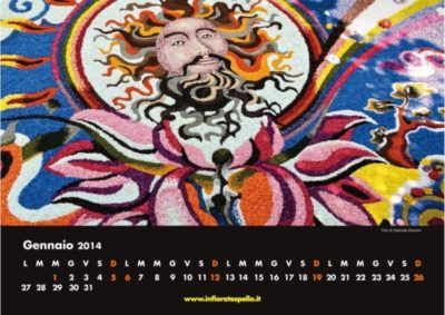 Infiorate di Spello calendario maestri del petalo 2014
