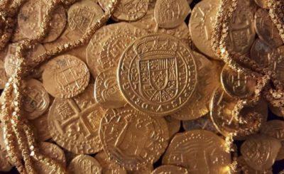 monete d'oro tesoro