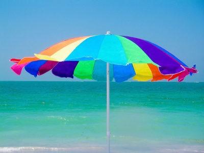 estate ombrellone colori ferragosto italia