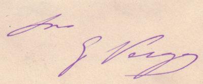 autografo giovanni verga