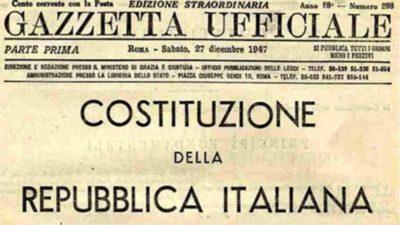 costituzione della repubblica referendum