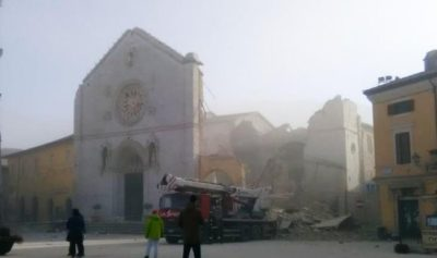 norcia basilica san benedetto terremoto