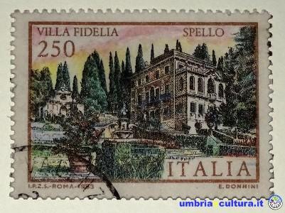 francobollo eros donnini villa fidelia