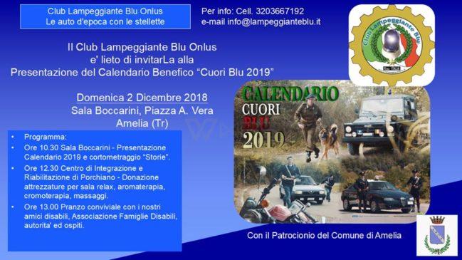 calendario benefico cuori blu 2019