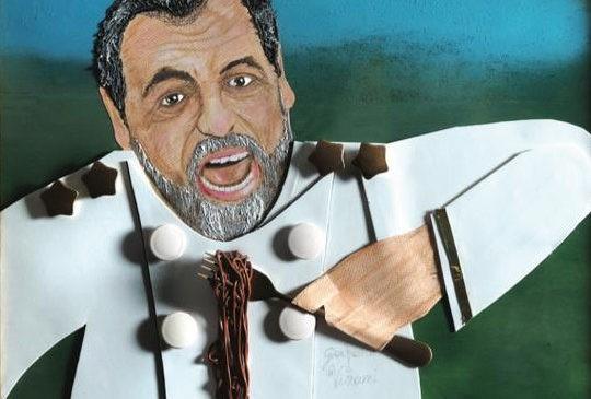 """Gianfranco Vissani """"The King"""" nell'arte di Massimiliano """"Mamo"""" Donnari"""