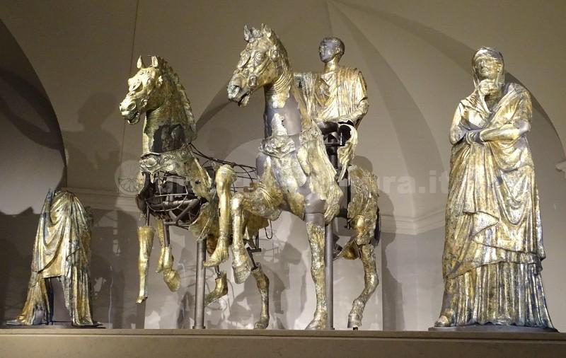 gilded bronzes from cartocetobronzi dorati di pergola