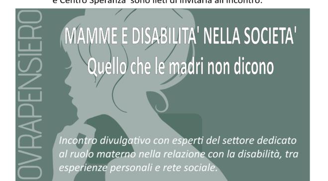 Mamme e disabilità: se ne parla a Fratta Todina
